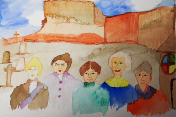 In a partnership between the Utah Museum of Fine Arts (UMFA) and the Better Days 2020 project students created portraits of influential women throughout history.