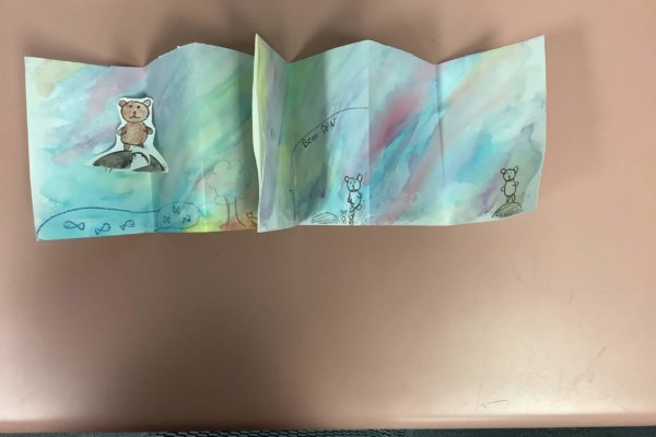 Students learned about biodiversity loss and created watercolor creatures and habitats for their creatures to live in.